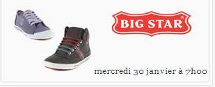 vente privée chaussures Big Star sur showroomprive.com