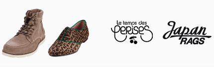 Vente privée chaussures Les temps des Cerises et Japan Rags janvier 2013 sur showroomprive