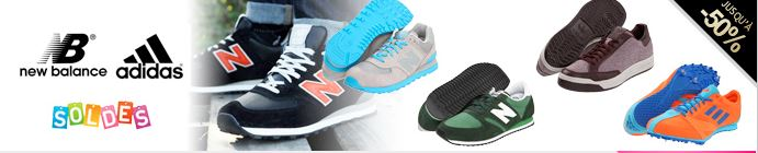vente privée baskets New Balance et Adidas sur vente-en-or.com