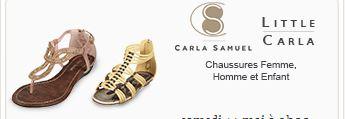 Vente privée chaussures CARLA SAMUEL  sur showroomprive